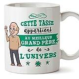 Mugffins Papi Tasse/Mug - Cette Tasse Appartient au Grand-Père de l'univers - Tasse Originale/Idee Fête des Pères/Cadeau Anniversaire/Future Papi. Céramique 350 ML