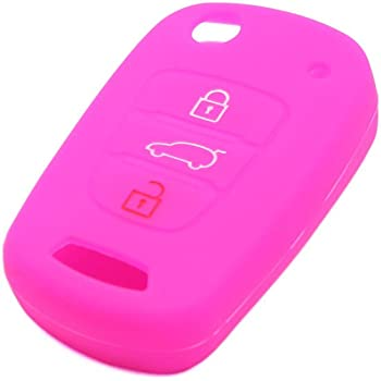 uxcell Purple Silicone Three Button Car Remote Key Cover Case Protective for Kia K3 K3S KX3 Sportage