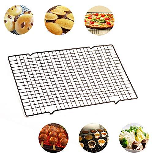 Hohe Qualität Nonstick Carbon Steel Kuchen Kühlregal Halter Plätzchen Kekse Brot Trockenkühler Ständer Backen-Werkzeuge VE, Schwarz