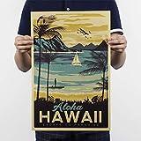 Vintage Poster Hawaii Zeichnung Kraftpapier/Bar