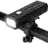 Dersoy Luz Bicicleta LED Recargable USB, Linterna Bicicleta IPX5 Impermeable Luz Bicicleta Delantera Luz Trasera Bicicleta, Luz LED Bicicleta para Carretera y Montaña, 3 Modos Seguridad para la Noche