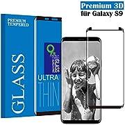 Samsung Galaxy S9 Panzerglas Schutzfolie, Tjicui Hohe Qualität 3D Displayschutzfolie [9H Härtegrad] [Ultra Klar] [Anti-Kratzen] [Anti-Fingerabdruck] [Blasenfreie Installation] Gehärtetes Glas Panzerglas Folie für Samsung Galaxy S9