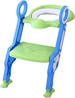 Glenmore Reducteur WC Enfant Avec Marche Réducteur Toilette Escalier (Vert)