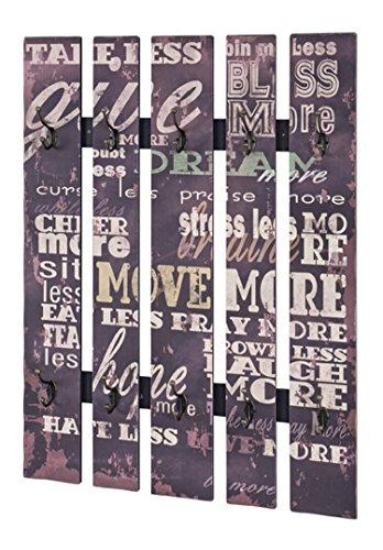 PEGANE Patère Murale Optique Vintage Brun foncé, L70 x H100 x P9 cm