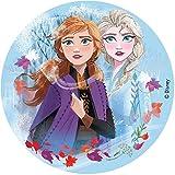 Dekora - Disco Comestible para Decoración de Tartas de Cumpleaños de Disney Frozen 2 - 16 cm