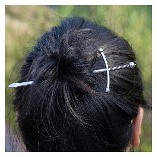 Yinyimei Haar Stäbe Schwert Haarstift Silber Schwertform Haarnadel Böse Haarschmuck for Frauen