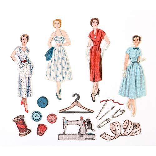 Simplicity 240108003 Vintage strijkijzer Bondex Diecut vormen, klassiek, multi, één maat