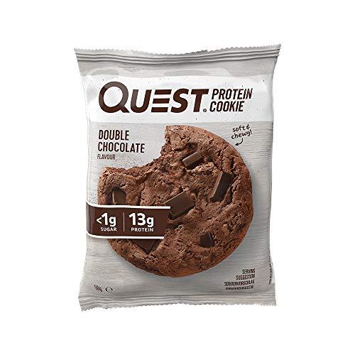 Doppelter Schokoladensplitter-Proteincookie von Quest Nutrition, 12er-Packung