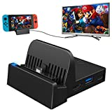 Dock for Nintendo Switch, Switch Charging Dock 4K HDMI TV Adapter Switch Docking Station Charger Dock Set Good Replacement for Official Nintendo Switch Dock (Upgraded System)