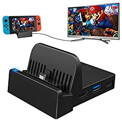 commercial Nintendo Switch Docking Station, Switch Charging Dock 4K HDMI TV Adapter Switch Docking Station Charger… replacement switch dock