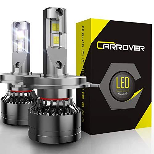 H4 LED 18000LM Kit de Bombillas Universales para Montaje de Faros Delanteros de Coches, 55W/Bombilla, 12V, 6000K