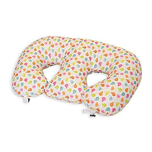The TWIN Z PILLOW - Waterproof Birdies Pillow - The only 6 in 1 Twin Pillow Breastfeeding, Bottlefeeding, Tummy Time & Support! A Must Have for Twins! - No Extra Cover