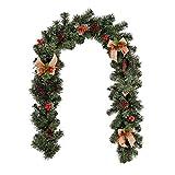 Hpamba Corona Navidad Artificial con Piñas Navideñas Coronas Navideñas con...