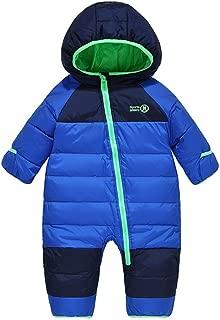 Winter Hooded Duck Down Snowsuit,Baby Girls Boys Warm Winter Light Romper Snowsuit Zipper One-Piece Suit
