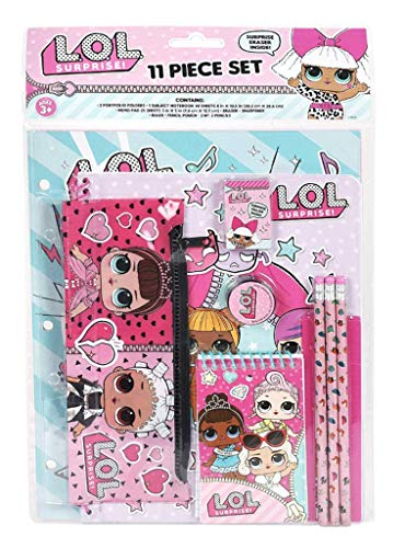 Licensed LOL L.O.L Surprise! 12pc Stationery Set in bag