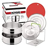 KOYSAS Stackable Steamer Insert Pans Compatible with Instant Pot - Safety Handle Sling – 6, 8...
