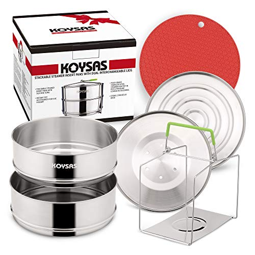 KOYSAS Stackable Steamer Insert Pans for Instant Pot