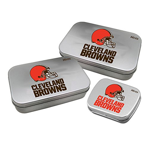 Worthy Promotional NFL Cleveland Browns Decorative Mint Tin 3-Pack with Sugar-Free Mini Peppermint Candies