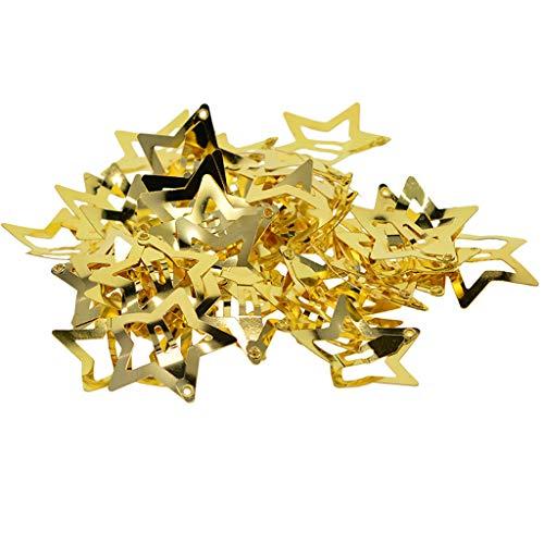 SM SunniMix 50 pcs Stern Haarclips Haarklammern Haarspangen Haar Clips Haarschmuck für Kinder - Stern golden