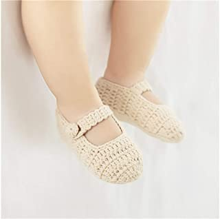 Lovely Socks Infant Cotton Sandals Kids Summer Anti-Slip Low-Profile Knitting Sandals (White) Newborn Sock (Color : Khaki)