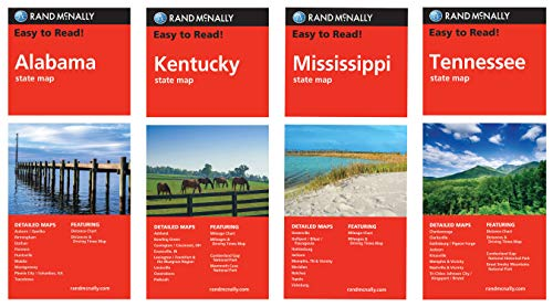 Rand McNally State Maps: East South Central Division (4 Maps)