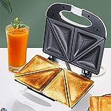 Sandwichera para hacer gofres, máquina de desayuno, calefacción de doble cara, sandwichera eléctrica, máquina de desayuno multifuncional