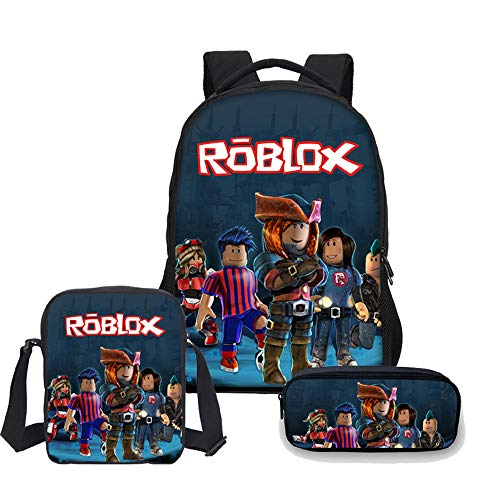 Kids Shcool Backpack with Lunch Box & Pencil Case, Student Bookbag Travel Bag for Boys Girls Teens Game Fans Gifts (Color 1)