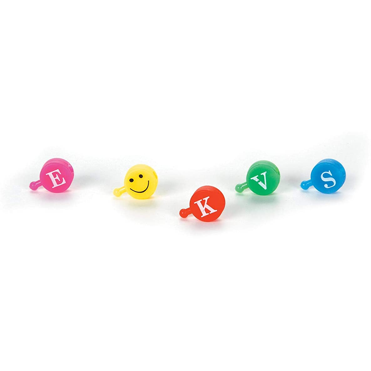 Bulk Buy: Darice DIY Crafts Pop Beads Alphabet and Smiley Face Bright Colors 60 pieces (3-Pack) 0726-92