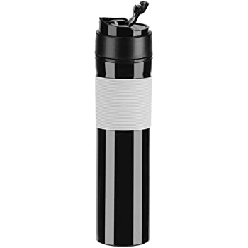 Portátil Mini Máquina de Espresso Mano Presión Caffe Máquina de Espresso Compacto Manual Cafetera para Oficina Casa Viajes Aire Libre (Negro): Amazon.es: Hogar