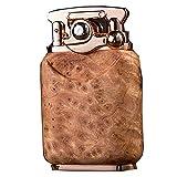 Encendedor de Queroseno Vintage a Prueba de Viento, Mechero de Gasolina Recargable, Diseño Clásico Encendedor Antiguo,Encendedor de Cigarrillos (Vendido sin Gasolina),C