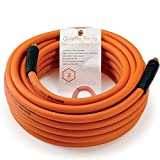 Hybrid Air-Hose 3/8 in. x 50 FT.1/4 in. MNPT Fittings, 300 PSI,Lightweight Flexibility Pol...