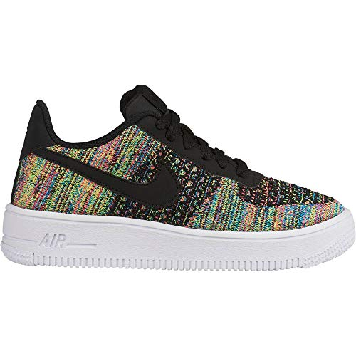 Nike Air Force 1 Flyknit 2.0 (GS), Chaussures de Basketball garçon, Multicolore (Black/Black/Hyper Pink/Volt 2), 37.5 EU