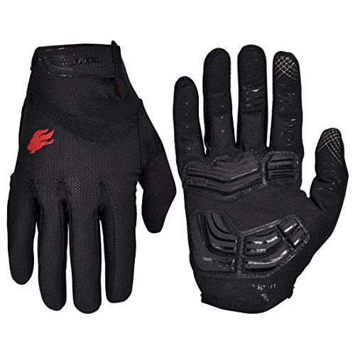 FIRELION Cycling Gloves Bike Bicycle Gloves - Breathable Gel Pad Shock-Absorbing Anti-Slip - MTB DH...