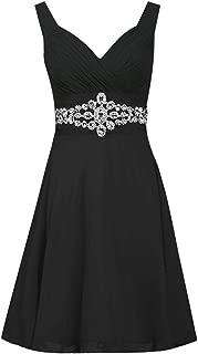 Aniywn Women Formal Wedding Bridesmaid Dress Plus Size High-Waist Party Ball Prom Gown Cocktail Dress