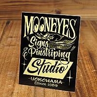 ムーンアイズ ステッカー MOONEYES S&Pステューディオ ブラック_SC-DM190BK-MON