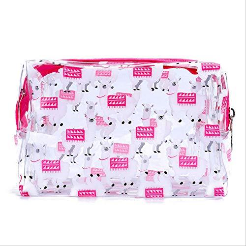 AMZIJ Sac à cosmétiquesTransparent PVC Unicorn Sac de Rangement pour Organisateur Licorne Make Up Pouch Toiletry Unicorn Bag 3