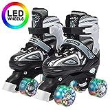 Apollo Super Quad X Pro, pattini a rotelle LED per bambini e ragazzi, ideali per principianti, comodi pattini a rotelle per bambine e bambini