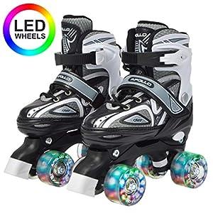 Apollo Super Quad X Pro, Patines LED para niños y Adolescentes, Ideales para Principiantes, cómodos Patines para niños y niñas