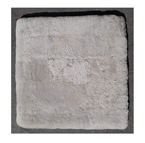 Sitzkissen Lammfell Patch (Rollstuhlauflage Katzenbett) 40x40cm beige perl