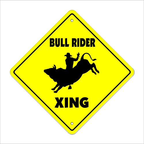 SignMission Bullrider Crossing Sign Zone Xing |-| 30,5cm Hoch Spurs Cowboystiefel Rodeo Bronco Cowboy Roping