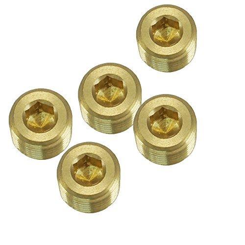 EDGE INDUSTRIAL Brass COUNTERSUNK HEX Plug 1//2 Male NPT MNPT Fuel//AIR// Water//Oil// Gas WOG