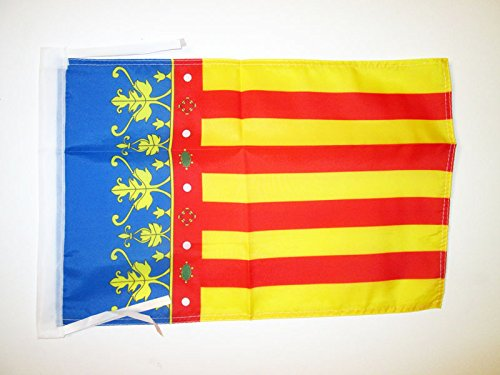 AZ FLAG Bandera de la Comunidad Valenciana 45x30cm - BANDERINA Valenciana 30 x 45 cm cordeles