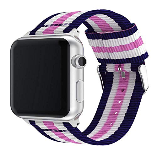 Sostituzione della banda compatibile per Apple Watch 38mm 42mm serie 4/3/2/1, nylon tessuto di sostituzione regolabile cinghia di Sport cinturino per le donne o gli uomini