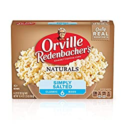 Orville Redenbacher's Naturals Simply Salted Microwave Popcorn, 3.29 Oz, Pack of 6