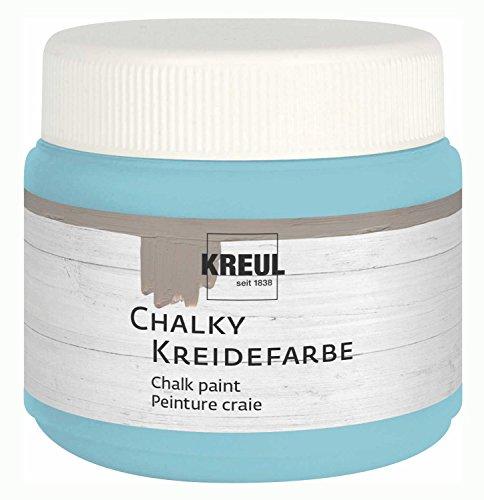 Kreul Chalky 75326 - Pintura a la tiza, color verde menta hielo en lata de plástico de 150 ml, suave, color mate, cobertura cremosa, secado rápido, para efectos en aspecto desgastado