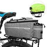 Lixada Fahrrad Gepäckträgertasche mit Regenschutz, Fahrrad Sitz Multifunktionale Isolierte...