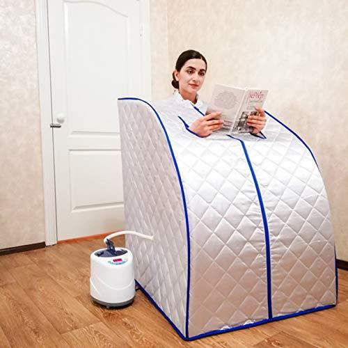 CGOLDENWALL Sauna de vapor portátil Casa sauna de vapor baño spa con generador de vapor de 2L pérdida de peso relaja el neumático