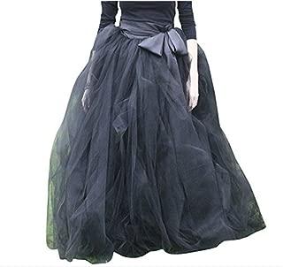 WDPL Women's A-Line Tulle Strips Ruffles Tutu Ball Gown Skirts
