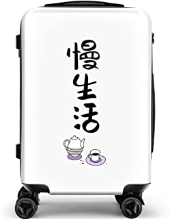 YCYHMY Suitcase Trolley Hand Luggage Travel Trolley case ABS Material White 18 inch