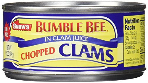 Snow's by Bumble Bee Chopped Clams Juice, 6 Count